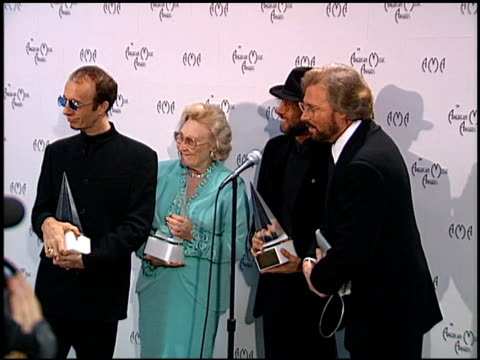 Bee Gees at the American Music Awards at the Shrine Auditorium in Los Angeles California on January 27 1997