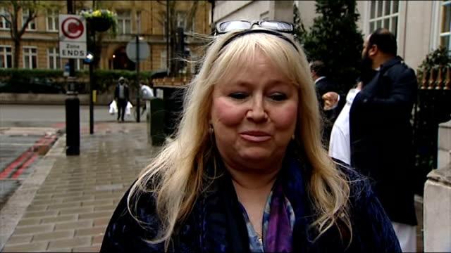 bee gees singer robin gibb wakes from coma; england: london: harley street: ext dwina gibb interview sot - the bee gees bildbanksvideor och videomaterial från bakom kulisserna