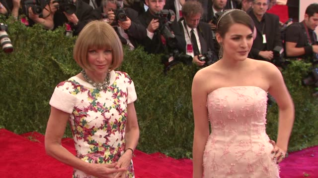 Bee Shaffer and Anna Wintour at The Metropolitan Museum of Art Costume Institute Benefit Gala at Metropolitan Museum of Art on May 06 2013 in New...