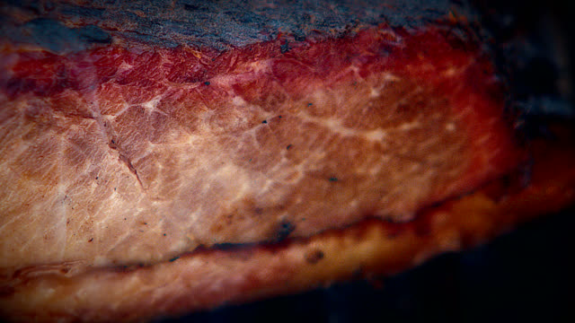 bbq beef brisket - smoked food stock videos and b-roll footage