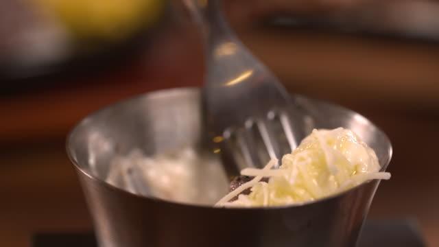 beef tenderloin steak with mozzarella cheese - mozzarella stock videos & royalty-free footage