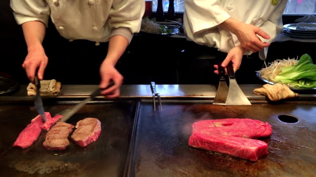 HD VDO : beef teppan on Japanese