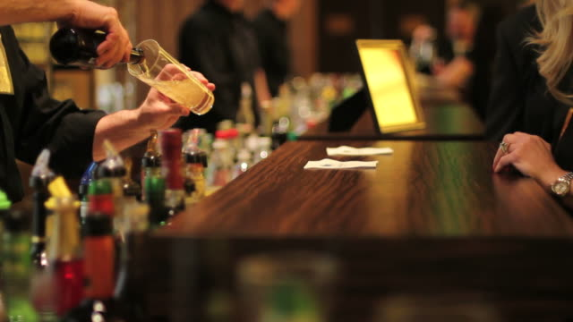 beer, bartender, bar, drink, party, alcohol - bar counter stock videos & royalty-free footage