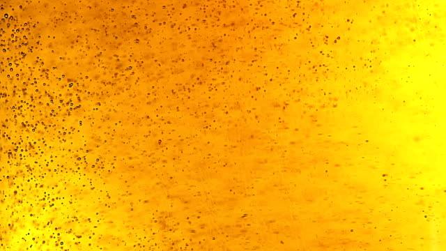 Öl bubblor. Extrem närbild