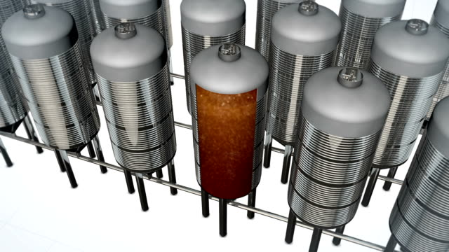 beer fermentation - storage tank stock videos & royalty-free footage