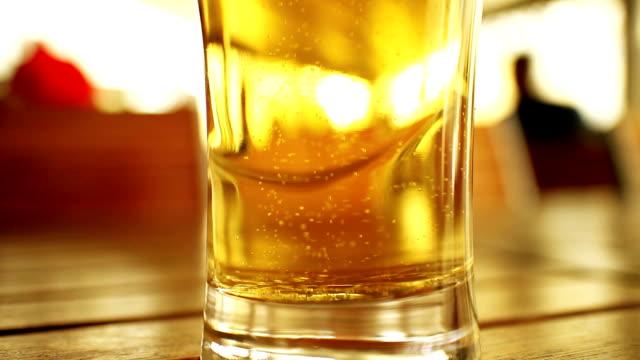 beer glass - pilsner stock videos & royalty-free footage