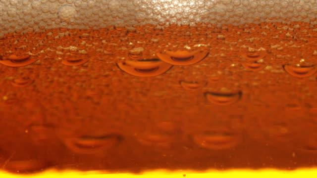vídeos de stock, filmes e b-roll de vidro de cerveja - tensão de superfície