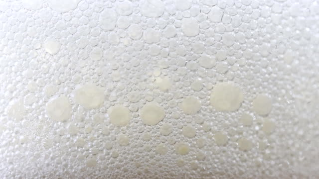 beer in drinking glass close-up - frothy drink stock videos & royalty-free footage