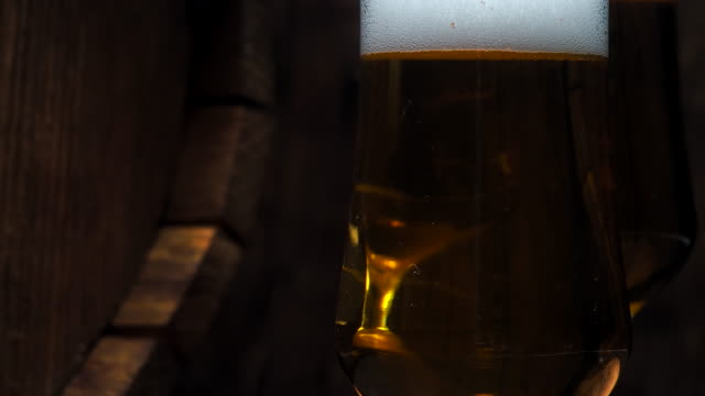 beer on bar counter - oak stock videos and b-roll footage