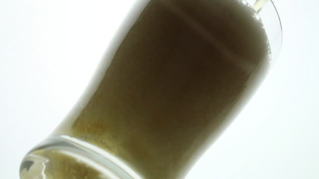 beer poured into glass - beer glass stock videos & royalty-free footage
