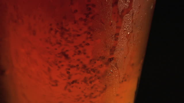 beer pouring close-up