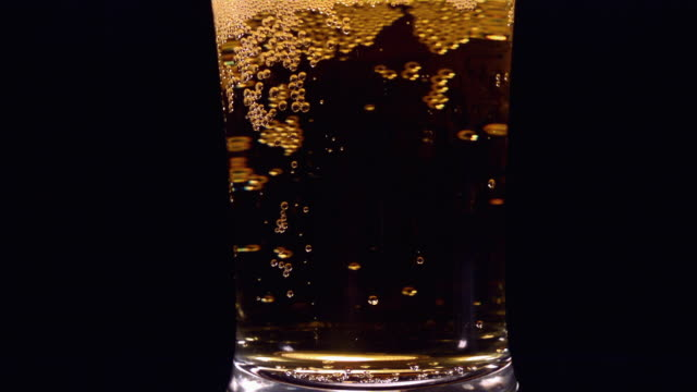 cu slo mo beer swirling in pilsner glass / studio, new jersey, usa - pilsner stock videos & royalty-free footage