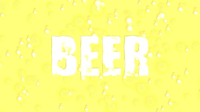 beer word colorful liquid - pitcher jug stock videos & royalty-free footage