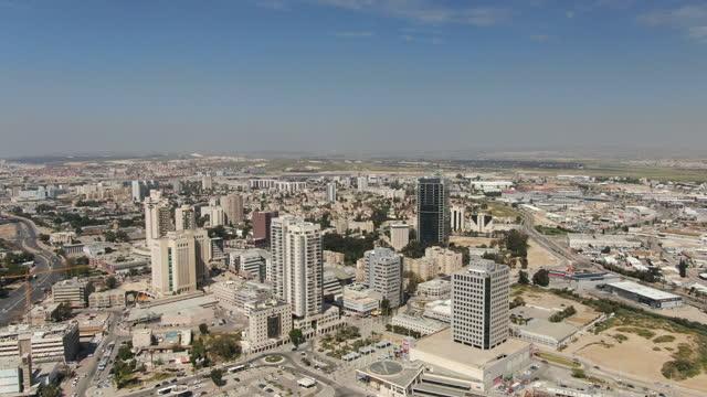 beersheba city aerial(city of beer sheva) / israel negev - negev stock videos & royalty-free footage