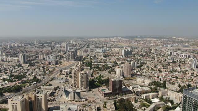 beersheba city aerial(city of beer sheva) / israel negev - ネゲブ点の映像素材/bロール