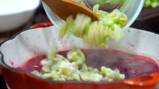 beet and cauliflower soup - beet stock videos & royalty-free footage
