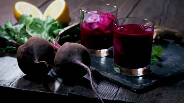 beet smoothie - beet stock videos & royalty-free footage