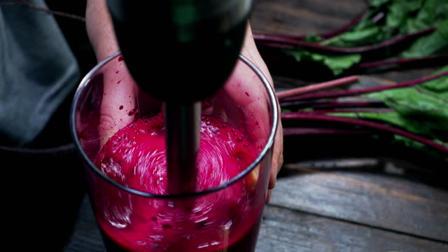 beet smoothie - detox stock videos & royalty-free footage