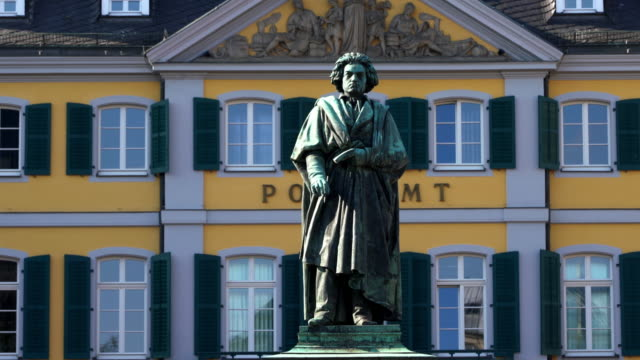 beethoven statue in bonn, germany - composer stock videos & royalty-free footage