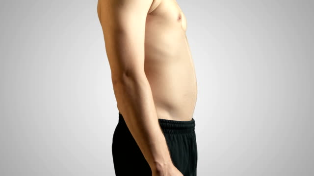 before and after dieting - 4k resolution - abdominal muscle stock videos & royalty-free footage