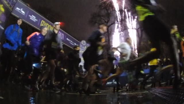 5000 begin the new year with a four mile race - salmini stock videos and b-roll footage