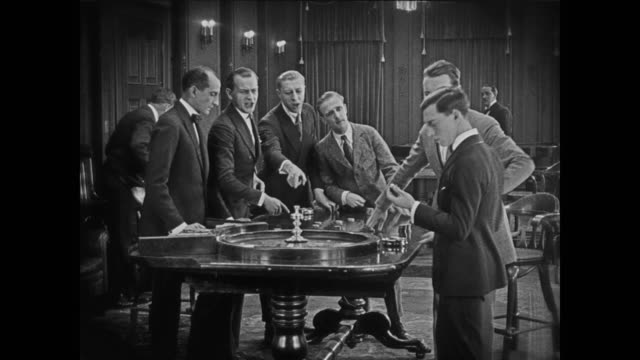 1920 Beginner's luck at roulette table (Buster Keaton)