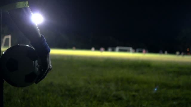beginning of the soccer match with referee blowing whistle. - whistling stock videos & royalty-free footage