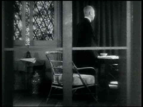 prince saionji kinmochi in home standing by window. [not confirmed this is prince saionji kinmochi] - 1935 stock videos & royalty-free footage