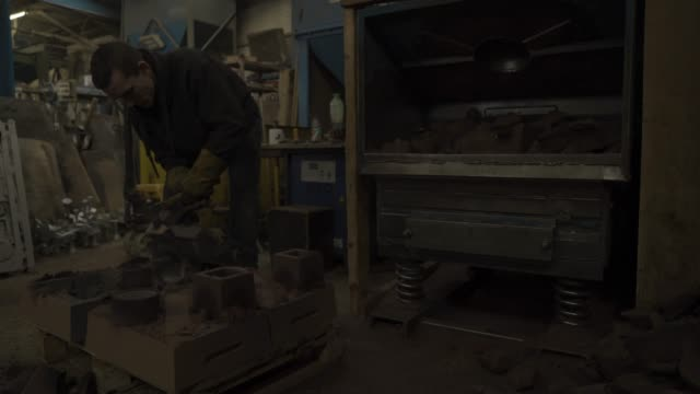 behind the scenes at the bafta foundry: the making of the masks on january 31, 2019 in london, england. - 英国アカデミー賞テレビ部門点の映像素材/bロール