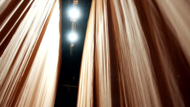 Behind the theater curtains