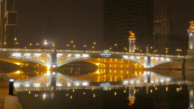 bei'an bridge, tianjin, china - hai river stock videos & royalty-free footage