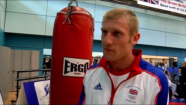 BOXING British Olympic Boxing media day ENGLAND Sheffield English Institute of Sport Boxing Hall INT Tony Jeffries interview SOT Good for family to...