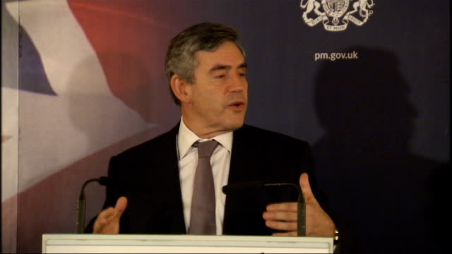 gordon brown hosts thankyou reception for team gb gordon brown mp speech sot great privilege to meet all of you this evening / the most successful... - speech bubble stock videos & royalty-free footage
