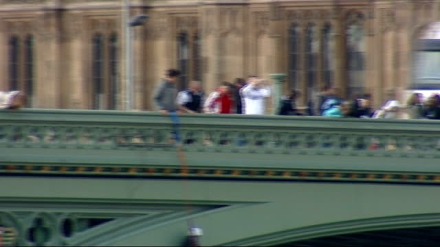 London torch procession disrupted by Tibet protesters Westminster Bridge protest ENGLAND London Westminster EXT Westminster Bridge and the Houses of...