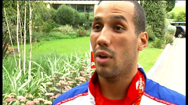 beijing 2008 olympic games: team gb return to britain: arrivals and interviews at family reunion event; james degale interview sot - can't believe ,... - pinching stock videos & royalty-free footage
