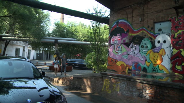 beijing 789 art district - art stock-videos und b-roll-filmmaterial