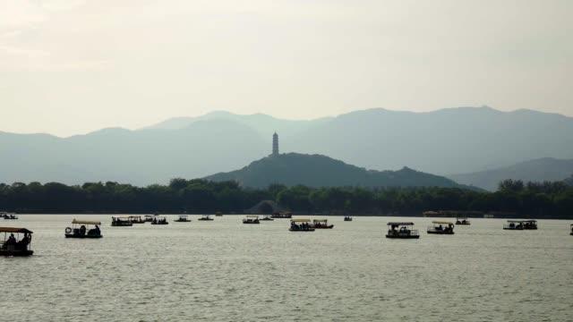 beijing beihai park stock video - summer palace beijing stock videos & royalty-free footage