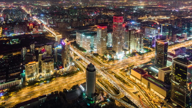 T/L WS HA ZI Beijing Business Center at Night