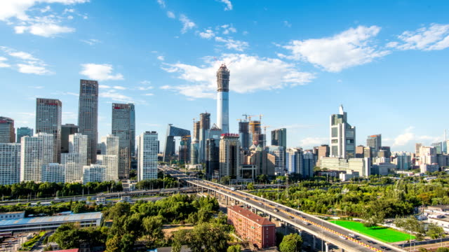 T/L WS Beijing CBD skyline at daytime