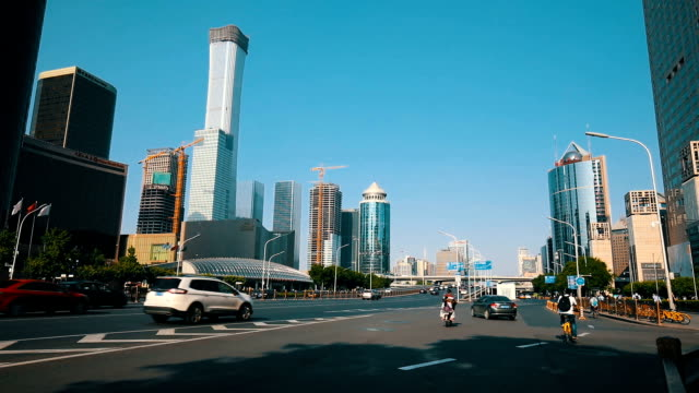 beijing cbd street - beijing stock videos & royalty-free footage