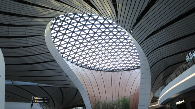 vidéos et rushes de beijing daxing international airport - architecture