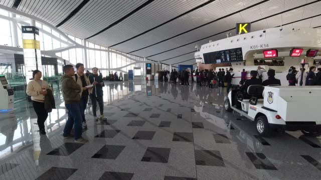 beijing daxing international airport - new stock videos & royalty-free footage