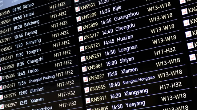 beijing daxing international airport - aeroplane ticket stock videos & royalty-free footage