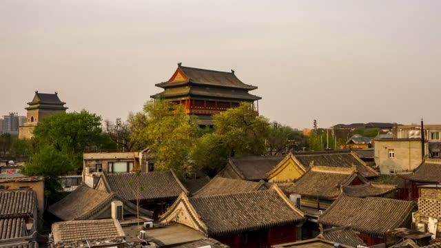 beijing drum tower - hutong alley stock videos & royalty-free footage