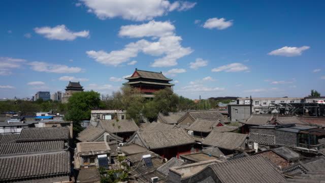 vídeos y material grabado en eventos de stock de beijing drum tower - hutong