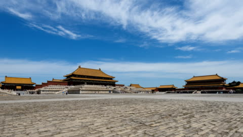 beijing forbidden city square and palace - beijing stock videos & royalty-free footage