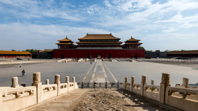 beijing forbidden city square and palace - tiananmen square stock videos & royalty-free footage