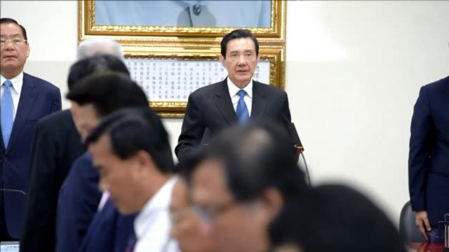 stockvideo's en b-roll-footage met beijing friendly president ma ying jeou steps down as chairman of the ruling party following a massive polls defeat for the government as public... - overtuiging