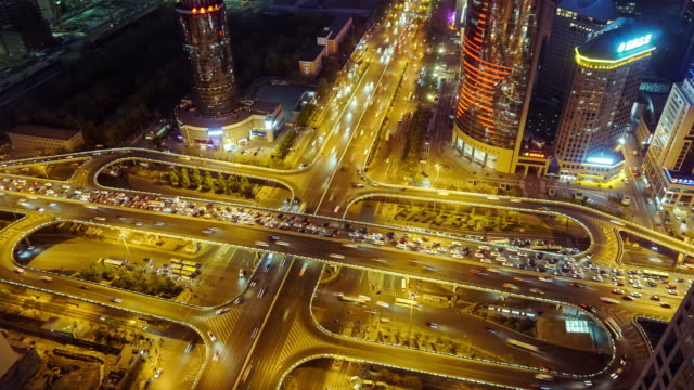 Beijing Guomao traffic time lapse