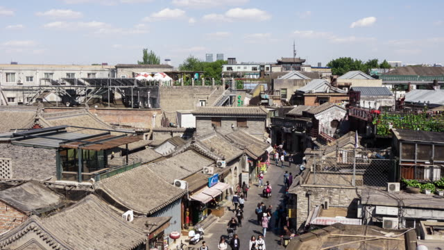 vídeos y material grabado en eventos de stock de beijing hutong time lapse - hutong